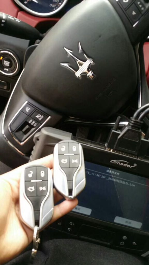 Lonsdor K518ISE add smart key on Maserati Ghibli 2017