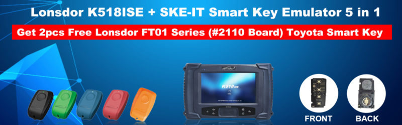 Lonsdor K518ISE Key Programmer Plus SKE-IT Smart Key Emulator 5 in 1